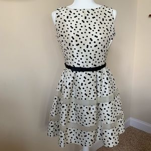 Taylor polka dot button back dress #202